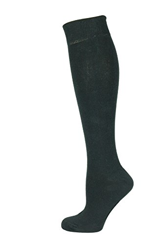 Mysocks® Unisex Knie Hohe lange Socken schwarz (Hoch Damen-socken)