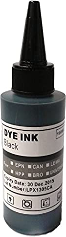 100ml Black Ink Refill Bottle for Brother, Canon, Dell, HP,