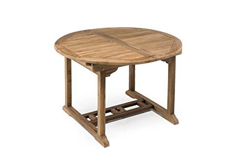 Tavolo Da Giardino Allungabile In Teak.Tavolo Da Esterno In Vero Teak Rotondo Allungabile A 180 Cm