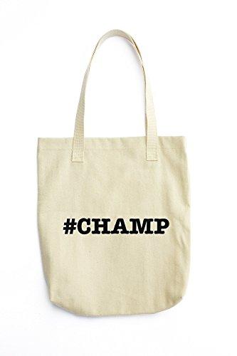 nicknames CHAMP nickname Hashtag printed Tote bag (Champ Denim)