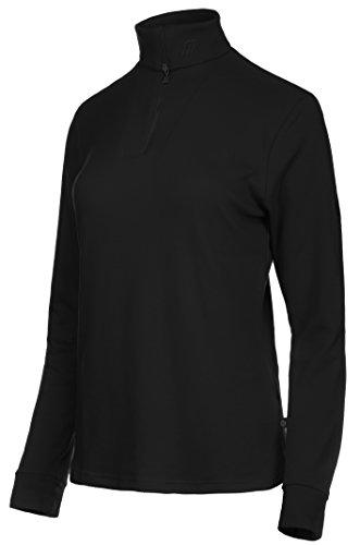 Medico Damen Ski Shirt, 42, 100% Baumwolle, langarm, Reißverschluss