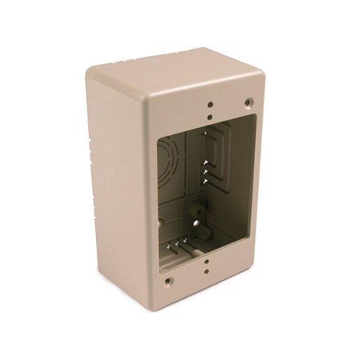 Hellermann Tyton TSRPW-JB2 Single gang junction box - 2 deep - White by Hellermann Tyton Gang Junction Box