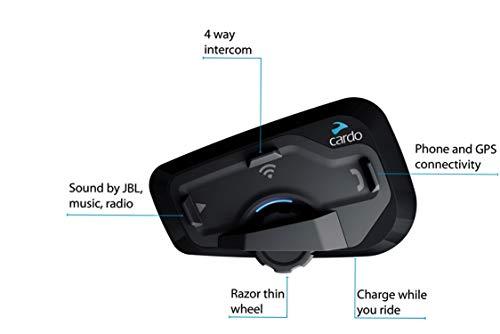 Cardo FREECOM 4 Plus – 4-Wege-Bluetooth-Kommunikationssystem mit natürlicher Sprachbedienung, Sound von JBL (Einzelpack) - 2