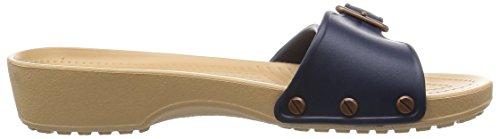 Crocs Sarah W, Sandales - Femme Bleu (Navy/Gold)