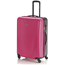 ITACA - TROLLEY GRANDE ABS, Color Fucsia-Antracita