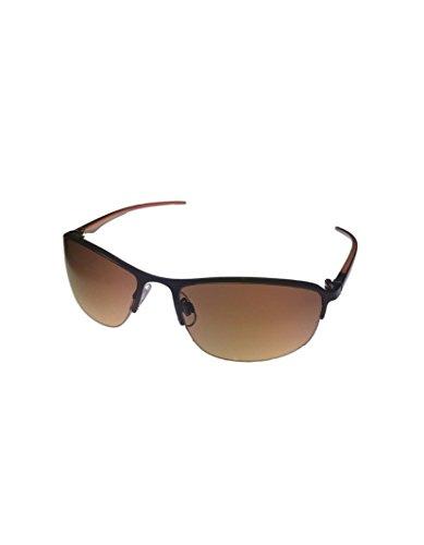 Perry Ellis Herren unten Randlos Sonnenbrille Metall Braun PE14 f2aeyL