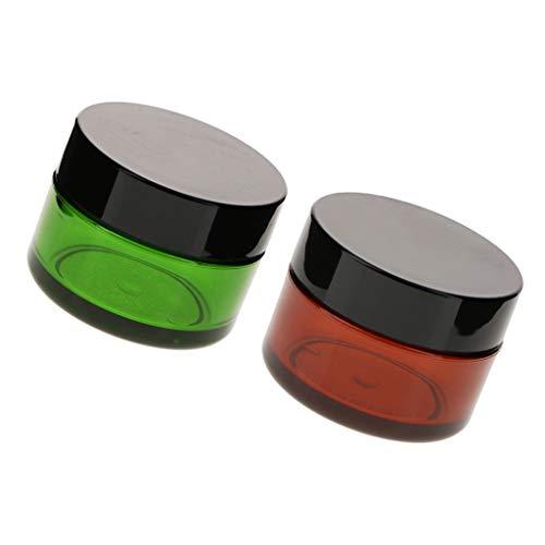 Fenteer 2x50g Petits Pots Vide de Maquillage Récipient de Cosmétiques Stockage de Maquillage Rangement Produits de Beauté pour Voyage