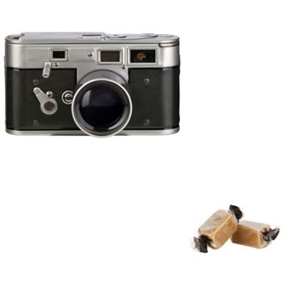 Price comparison product image Novelty Vintage-Style Camera Shaped Tin with Creamy Vanilla Fudge (100g)