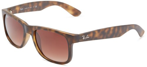 Ray-Ban JUSTIN - RUBBER LIGHT HAVANA Frame BROWN GRADIENT Lenses 51mm Non-Polarized  available at amazon for Rs.5694