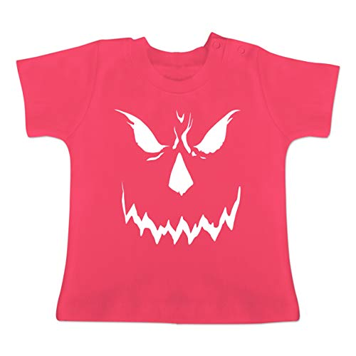 Anlässe Baby - Scary Smile Halloween Kostüm - 1-3 Monate - Fuchsia - BZ02 - Baby T-Shirt Kurzarm