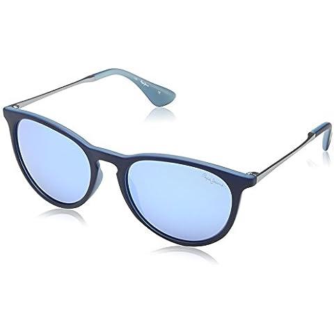 Pepe Jeans - Gafas de sol Redondas PJ7188 C3 Corbin, Blue/Grey Lens