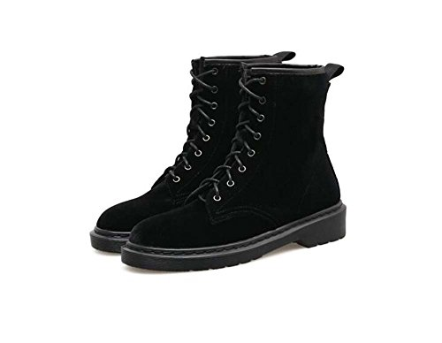 Onfly 3cm Chunkly Heel Martin Boots Donne Donne Ballerine Ballerine Bello Ballerine Pure Scarpe da Tennis Scarpe da Tennis Scarpe da Corte Scarpe da Tennis Eu Size 35-40 (Color : Black, Size : 38)