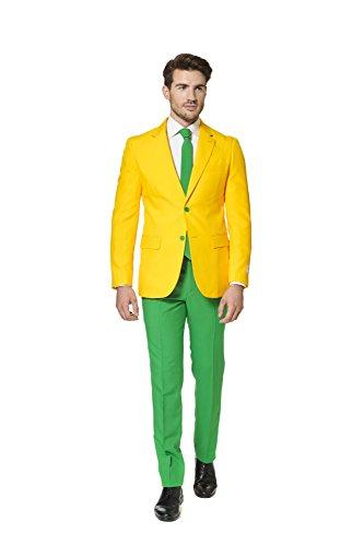 Opposuit Green and Gold Australien Anzug Slimline Herren 3-teilig Premium Gr 62 (70er Jahre Mode Australien)