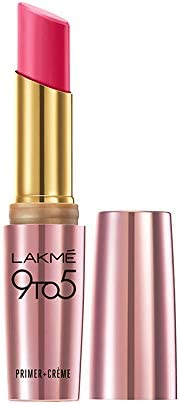 Lakme 9To5 Primer + Creme Lip Color, Pink Affair CP7, 3.6 g