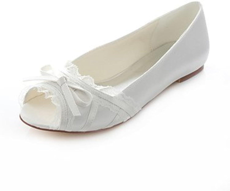Zormey Women'S Shoes Stretch Satin Flat Heel Peep Toe / Comfort Sandals Wedding / Party &Amp; Evening / Dress...