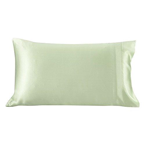Lilysilk 50,8x 76,2cm Maulbeer Seide Kissenbezüge Standard/Queen (19Momme)–Weiß, lichtgrün, King Size