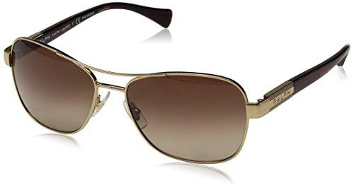 Ralph Lauren Ralph by Damen 0RA4119 3211T5 57 Sonnenbrille, Gold/Striated Brown/Browngradientpolarized,