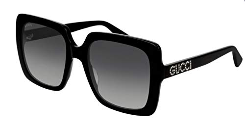 Gucci GG0418S 001 Black GG0418S Square Sunglasses Lens Category 2 Size 54mm c8cc60ba69ef