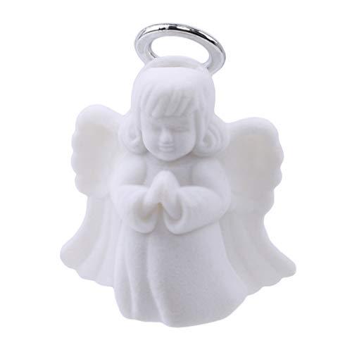 LJSLYJ White Angel Form Schmuckschatulle Samt Schmuck Ringe Geschenk-Kasten Halsketten-Anzeigen