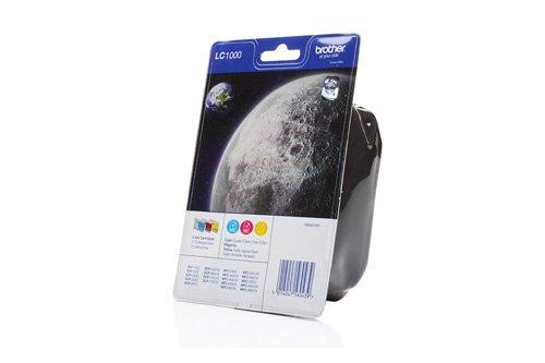 Brother Original LC1000 /, für MFC-5460 CN 3X Premium Drucker-Patrone, Cyan, Magenta, Gelb, 3x400 Seiten -