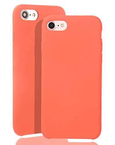 JMi [ Kompatibel mit Apple iPhone 7/8, in Orange Originale Silikonhülle - Hochwertig, perfekte Verarbeitung - Schlichtes Silicone Case
