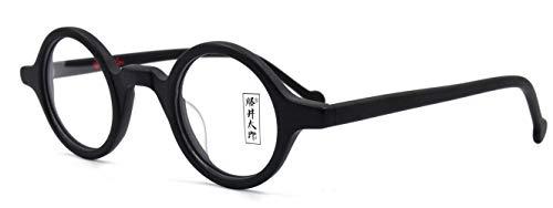 AMILLET Montatura per occhiali da vista rotonda vintage, occhiali da vista stile retrò in acetato Rx per uomini e donne