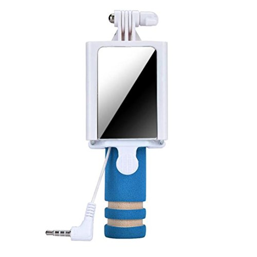 Tefamore Palo Selfie Mini cámara Handheld del monopio del palillo de Selfie para el borde de la galaxia S7 de Samsung (Azul)