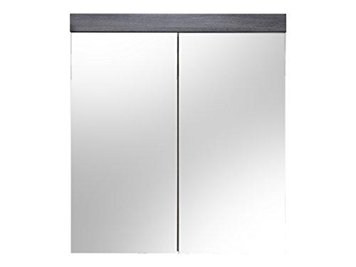 trendteam smart living Badezimmer Spiegelschrank, Holzwerkstoff, weiß, 72 x 79 x 17 cm