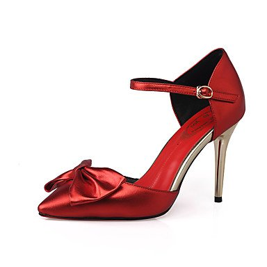 LFNLYX Donna Sandali Primavera Estate Autunno altri vacchetta party di nozze & Sera Stiletto Heel Bowknot rosso Red