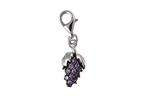Charm en argent Sterling 925 Cristal BU7017 raisin
