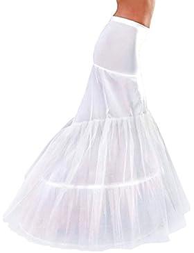 FNKSCRAFT enagua de la boda accesorios de la boda Enaguas Falda paseo de novia de cola de pez sirena de las gradas...