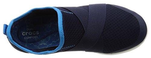 Crocs Swiftwater X-strap, Sabots femme bleu foncé (navy/white)