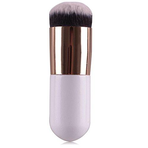 Vococal® Tête Ronde Large Pinceau de Maquillage Maquillage Fondation Poudre BB CC Blush Crème Cosmétique Brosse Or