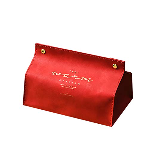 Aufbewahrungsboxen,Rifuli® New Leather Facial Tissue Box Cover Rechteckiger Serviettenhalter Druckknopfverschluss Wohnaccessoires Dekoartikel Boxen Kästen Gartenhäuser Aufbewahrung