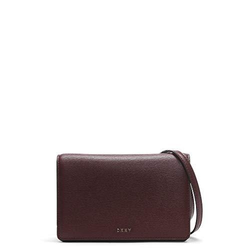 DKNY petit sac à bandoulière cuir texturé rouge sang bryant Burgundy Leather