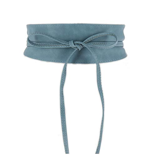 FASHIONGEN - Damen Taillengürtel Breiter Obi gürtel MICA - Blau Jeans, L-XL