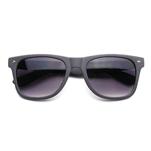 Emblem Eyewear - Unico Stile Indie Occhiali Da Sole Wayfarer Retrò Stampa Legno (Grigio)