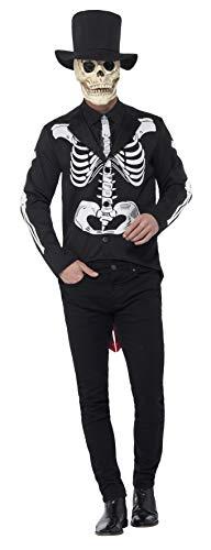 Secret Kostüm Service - Smiffys 44656M - Herren Tag der Toten Senor Kostüm, Größe: M, schwarz