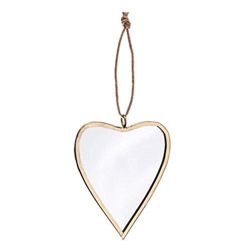 Darice 30009494Gold Rahmen verspiegelt Weihnachten ornaments-heart