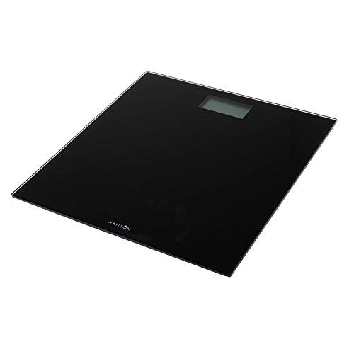 Hanson HX6000 Blk Slim Electronic Glass Bathroom Scale Black