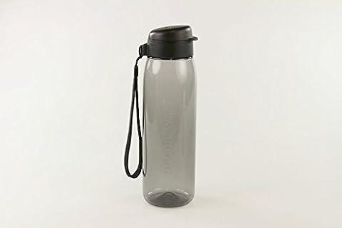 TUPPERWARE To Go Eco Fresh 750ml schwarz mit Band Trinkflasche Ökoflasche EcoEasy