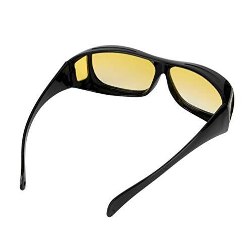 Hombre Mujer Noche Gafas de conducir Gafas de sol de seguridad UV 400 Gafas protectoras para los ojos Gafas anti deslumbramiento Visión - Amarillo
