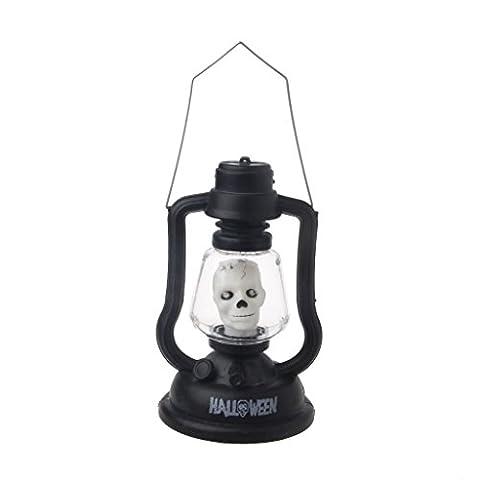 dairyshop Halloween Hexe Totenkopf Kürbis LED Handheld Lampe mit Musik Kid Spielzeug, plastik, Witch, Einheitsgröße