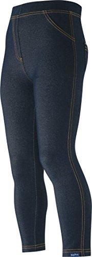 Playshoes Mädchen lang Jeans-Optik Legging, Blau (original 900), (Herstellergröße: 110)