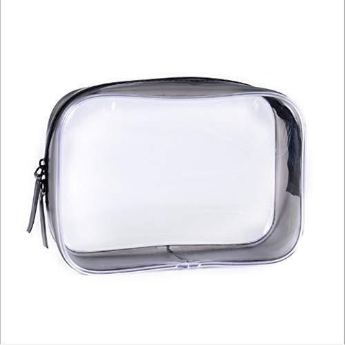 ZHaoZC Tragbare klare Make-up Tasche Reißverschluss wasserdichte Kosmetik Veranstalter für Urlaubsreisen Bad Taschen Gym Organisation transparente Reise
