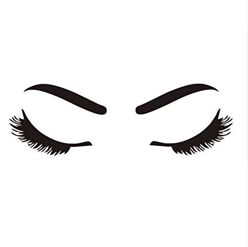 Zxfcczxf Schöne Wimpern & Augenbraue Bilden Beauty Salon Barbershop Fenster ModeWohnkultur WandaufkleberFür Wohnzimmer Kunst Tapete44 * 62 ()