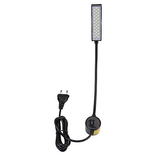 Nähmaschine Led-Lampe Arbeitslicht Flexibler Schwanenhals mit magnetischer Montagebasis und Ein- / Ausschalter für Werkbank-Drehmaschinen Bohrmaschinen, 30-Leds(EU Plug 110-250V)