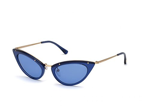 Tom Ford Sonnenbrille FT-GRACE 0349S-90V (52 mm) blau