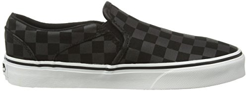 Vans - Asher, Sneaker basse Donna Nero (Black (Checker - Black/Blue Tint))