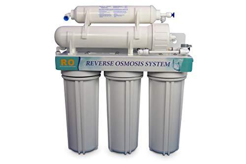 INGA RO Systems Umkehrosmose Anlage 50 GPD = 180L Trinkwasser täglich. Filtert bis zu 99% aller Schadstoffe aus dem Leitungswasser -